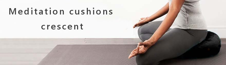 Meditation cushions crescent